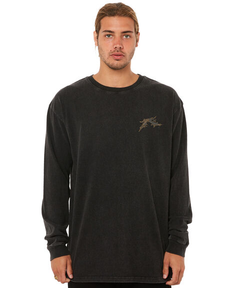 BLACK MENS CLOTHING RUSTY TEES - TTM1810BLK
