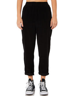 BLACK WOMENS CLOTHING SILENT THEORY PANTS - 6012026BLK