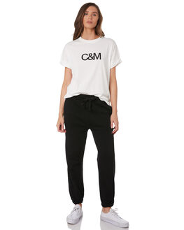 WHITE W BLACK WOMENS CLOTHING C&M CAMILLA AND MARC TEES - VCMT7050WHI
