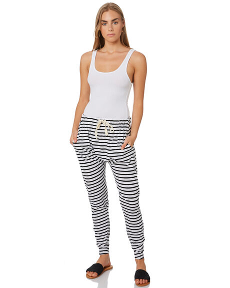 BLACK AND WHITE WOMENS CLOTHING SILENT THEORY PANTS - 6090036STR
