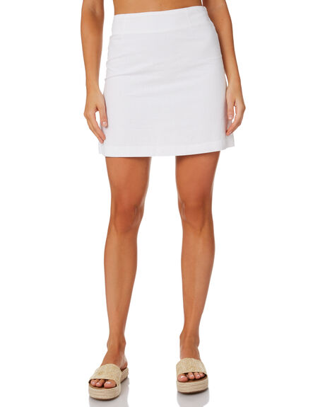 WHITE WOMENS CLOTHING NUDE LUCY SKIRTS - NU23730WHT