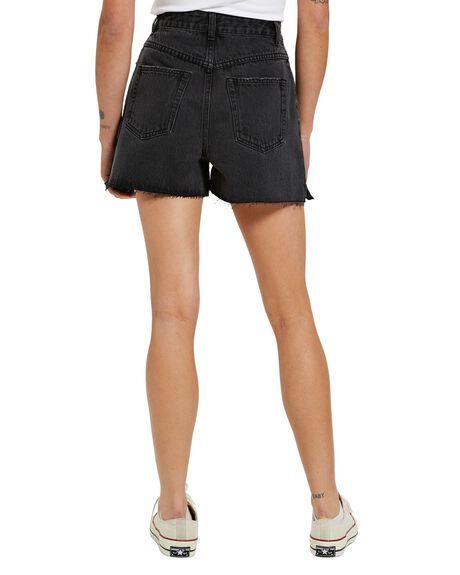 VINTAGE BLACK WOMENS CLOTHING NEON HART SHORTS - 39010500039