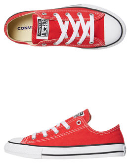 RED KIDS BOYS CONVERSE SNEAKERS - 3J236CRED
