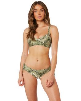 GREEN WOMENS SWIMWEAR TIGERLILY BIKINI TOPS - T382585GRN