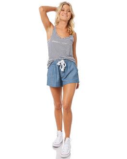 NAVY STRIPE WOMENS CLOTHING ELWOOD SINGLETS - W83002-JF6