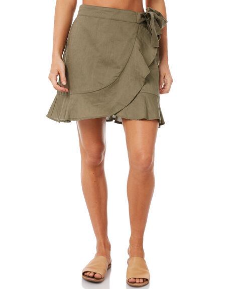 OLIVE WOMENS CLOTHING ELWOOD SKIRTS - W83614OLI