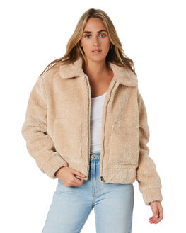 BEIGE WOMENS CLOTHING ALL ABOUT EVE JACKETS - 6453076BEIG