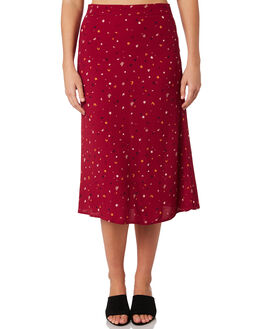 DARK PLUM FROLIC WOMENS CLOTHING ALL ABOUT EVE SKIRTS - 6434017PRT2
