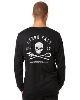 BLACK MENS CLOTHING SEA SHEPHERD TEES - SSA851ABLK