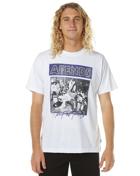 WHITE MENS CLOTHING AFENDS TEES - 01-09-028WHT