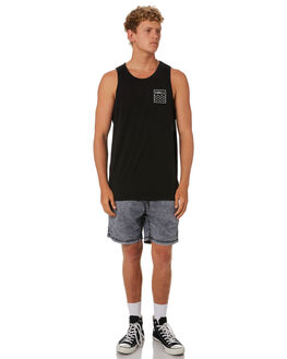 BLACK MENS CLOTHING SWELL SINGLETS - S5202281BLACK