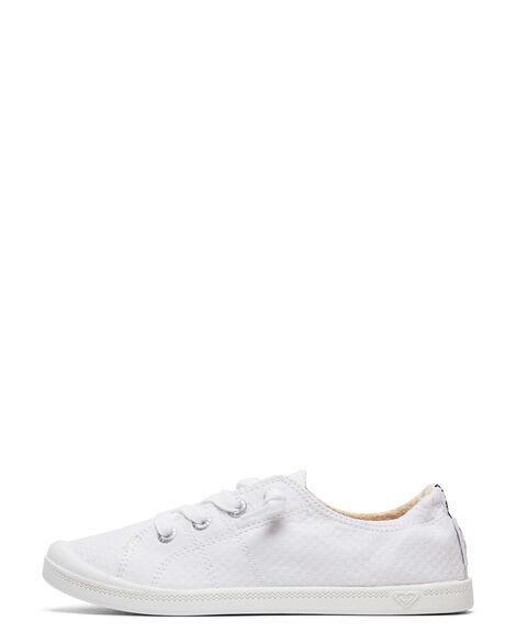 WHITE WOMENS FOOTWEAR ROXY SNEAKERS - ARJS600418-WHT