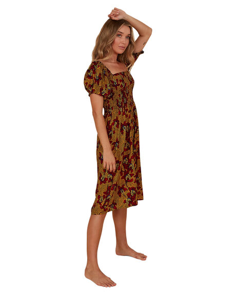 RED WOMENS CLOTHING BILLABONG DRESSES - BB-6507699M-RED