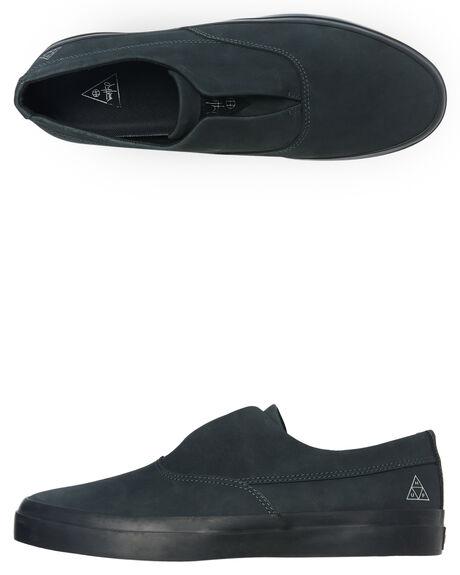 BLACK MENS FOOTWEAR HUF SNEAKERS - VC00100-BLACK