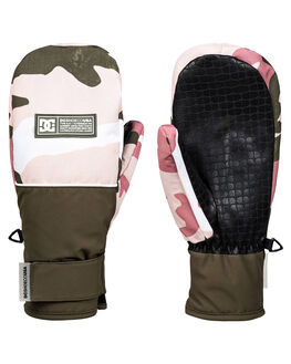 DUSTY ROSE CAMO BOARDSPORTS SNOW DC SHOES GLOVES - EDJHN03016-MKP6