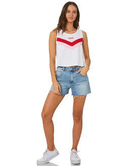 WHITE WOMENS CLOTHING LEVI'S SINGLETS - 80816-00010001