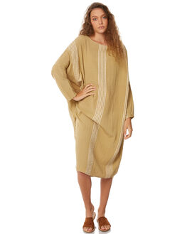 OLIVE WOMENS CLOTHING ZULU AND ZEPHYR DRESSES - ZZ2068OLIV