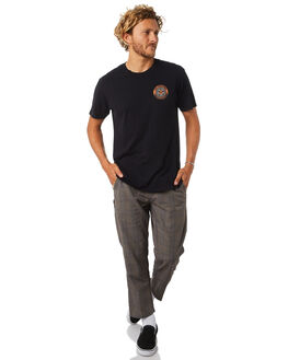 BLACK MULTI MENS CLOTHING OBEY PANTS - 142020123BKM
