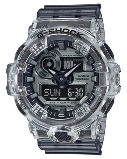 TRANSPARENT GREY MENS ACCESSORIES G SHOCK WATCHES - GA700SK-1ATRGRY