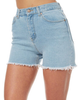 STONE BLUE WOMENS CLOTHING AFENDS SHORTS - 52-01-073STB