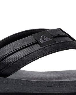 BLACK/GREY/BLACK MENS FOOTWEAR QUIKSILVER THONGS - AQYL100886-XKSK