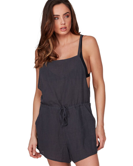 OFF BLACK WOMENS CLOTHING BILLABONG PLAYSUITS + OVERALLS - BB-6507502-OFB