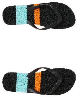 BLACK ORANGE MENS FOOTWEAR KUSTOM THONGS - 4984239BORNG