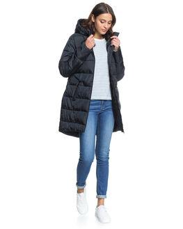ANTHRACITE WOMENS CLOTHING ROXY JACKETS - ERJJK03402-KVJ0