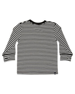 WHITE BLACK KIDS BOYS ALPHABET SOUP TOPS - AS-KLA8294WHBLK