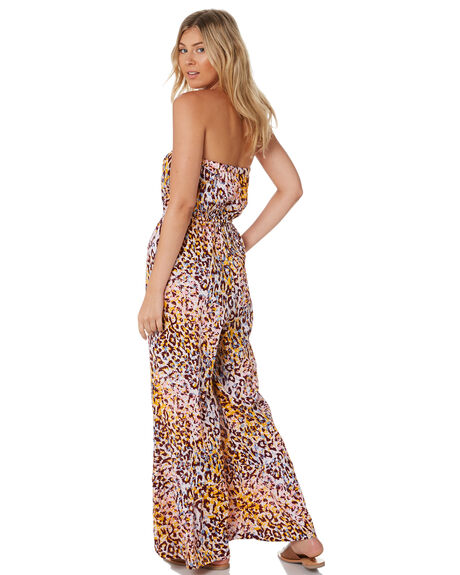 LEOPARD WOMENS CLOTHING TIGERLILY PLAYSUITS + OVERALLS - T305444LEO