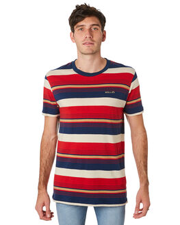 MUTLI STRIPE MENS CLOTHING ROLLAS TEES - 15723B3704