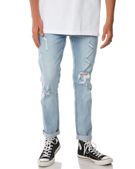 STONED BLUE OUTLET MENS THRILLS JEANS - TDP-410SESTNBL