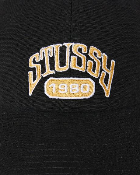 BLACK MENS ACCESSORIES STUSSY HEADWEAR - ST702007BLK