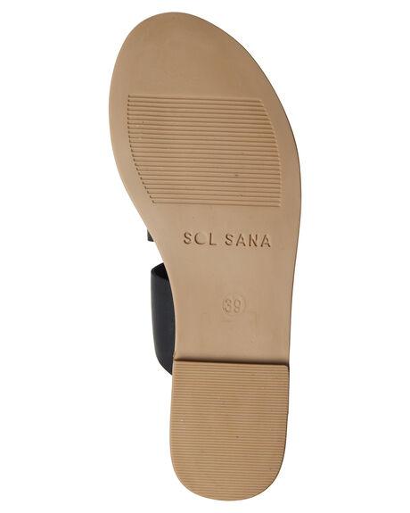 BLACK WOMENS FOOTWEAR SOL SANA FASHION SANDALS - SS172S395BLK
