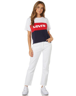 SURF BLUE WHITE WOMENS CLOTHING LEVI'S TEES - 74317-0002SUR