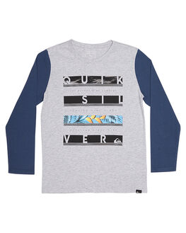 ATHLETIC HEATHER KIDS TODDLER BOYS QUIKSILVER TEES - EQKZT03115SGRH