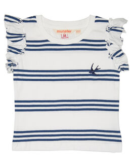 NAVY STRIPE KIDS TODDLER GIRLS MUNSTER KIDS TEES - MM181FT02NVY
