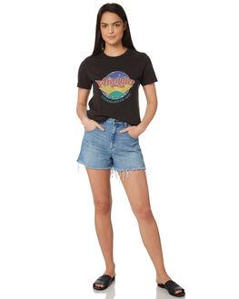 WORN BLACK WOMENS CLOTHING WRANGLER TEES - W-951348-082