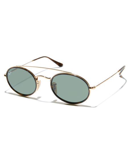 4b7f6c99de Ray-Ban Oval Double Bridge Sunglasses - Gold Green