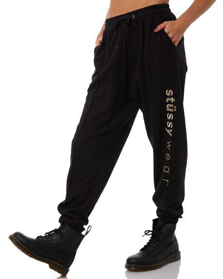 BLACK WOMENS CLOTHING STUSSY PANTS - ST181619BLK