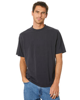 BLACK MENS CLOTHING MR SIMPLE TEES - M-01-64-01BLK