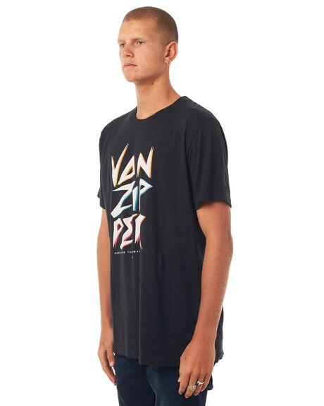BLACK MENS CLOTHING VONZIPPER TEES - 3972002BLK