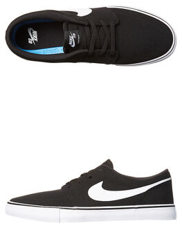 BLACK WHITE WOMENS FOOTWEAR NIKE SNEAKERS - SS880268-010W