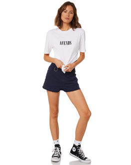 WHITE WOMENS CLOTHING AFENDS TEES - W191010WHT