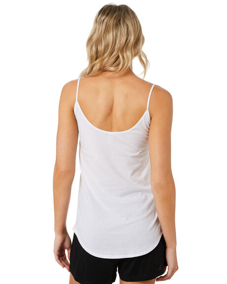 WHITE WOMENS CLOTHING AS COLOUR SINGLETS - 4022WHITE