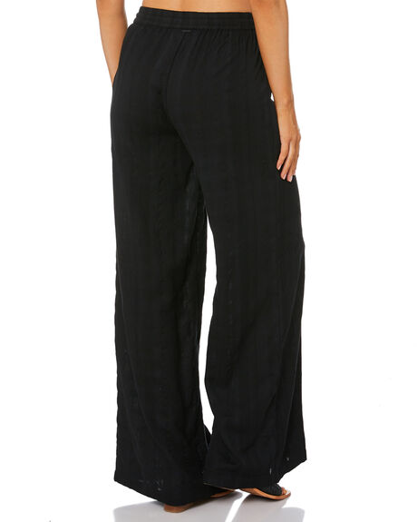 BLACK WOMENS CLOTHING VOLCOM PANTS - B1212003BLK