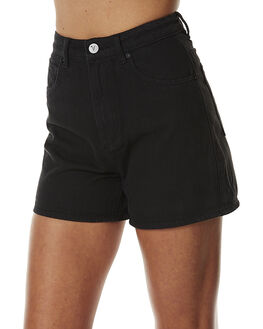 OVER DYE BLACK WOMENS CLOTHING A.BRAND SHORTS - 70058-100ODBLK