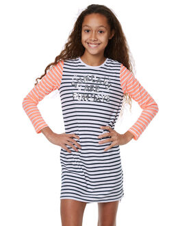 NAVY WHITE STRIPE KIDS GIRLS EVES SISTER DRESSES - 9900016NVYWT