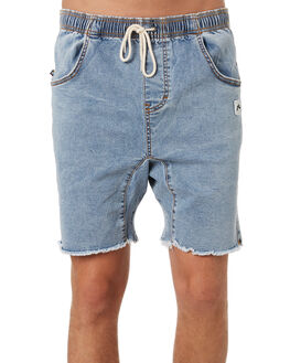 THRIFTED BLUE MENS CLOTHING RUSTY SHORTS - WKM0974THB