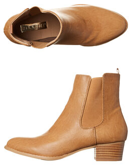 TAN BURNISHED WOMENS FOOTWEAR BILLINI BOOTS - B803711